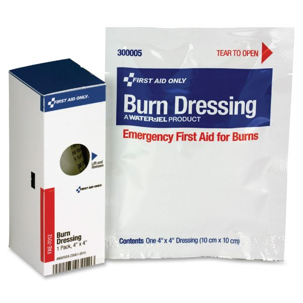 First Aid Only SmartCompliance Refill Burn Dressing, 4 x 4, White