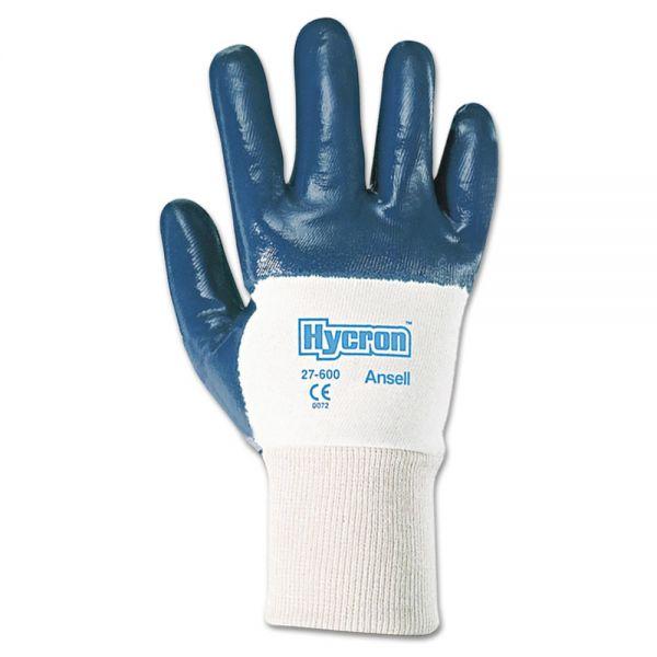 AnsellPro Hycron Heavy-Duty Nitrile-Coated Gloves, Size 10