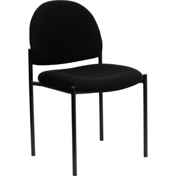 Flash Furniture Black Fabric Steel Side Chair