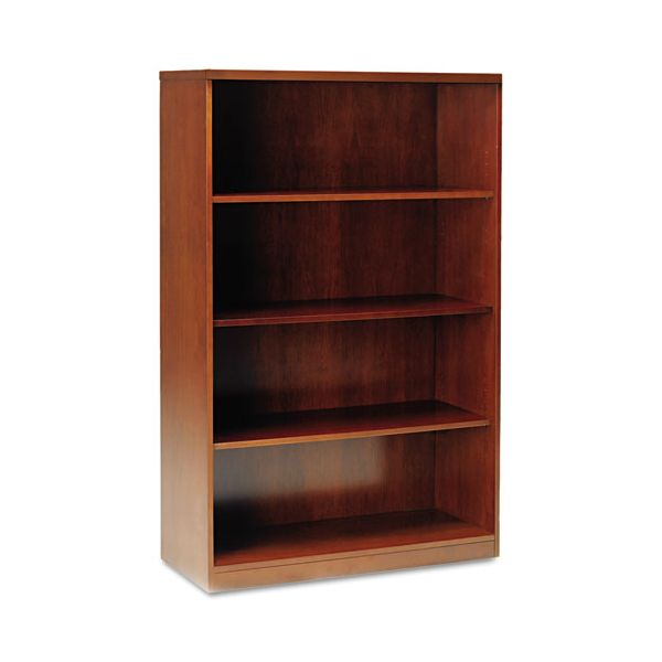Mayline Stella Series Wood Veneer 4-Shelf Bookcase