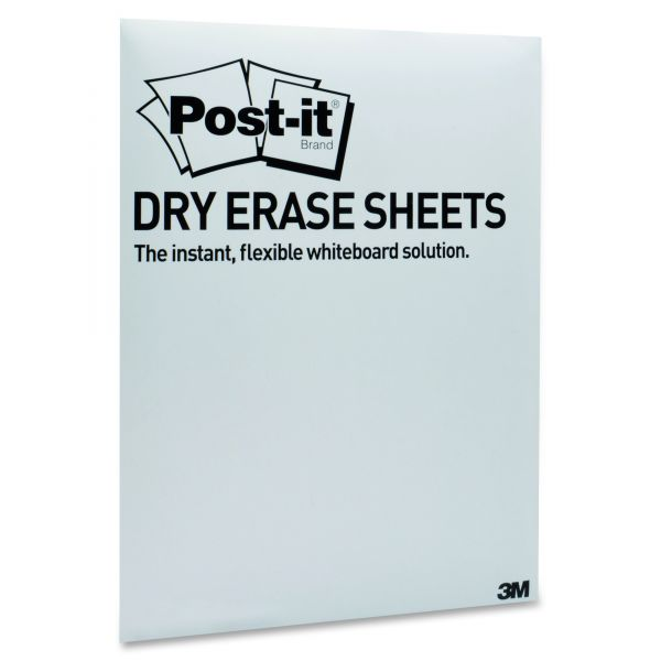 Post-it Dry Erase Surfaces with Adhesive Backing