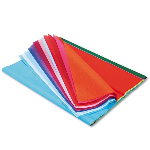 Pacon Spectra Art Tissue, 10 lbs., 20 x 30, 20 Assorted Colors, 20 Sheets/Pack