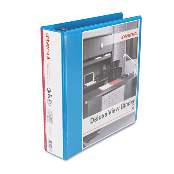 "Universal Deluxe 2"" 3-Ring View Binder"