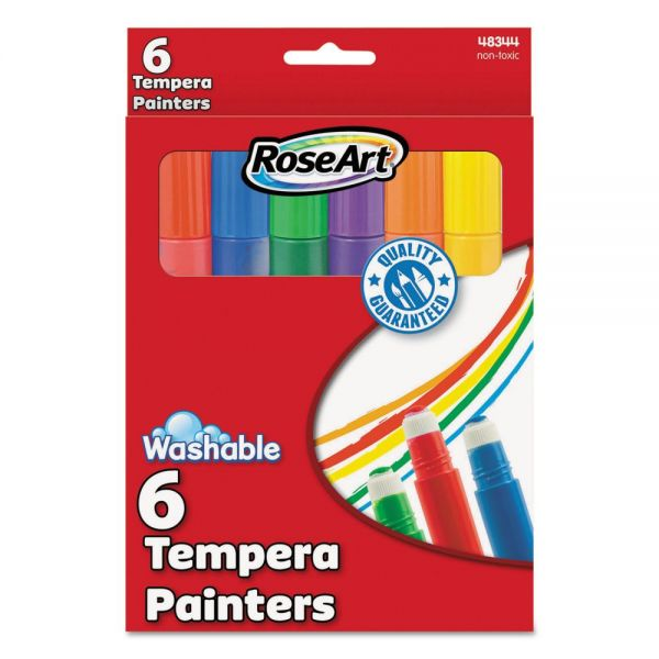 RoseArt Washable Tempera Painters