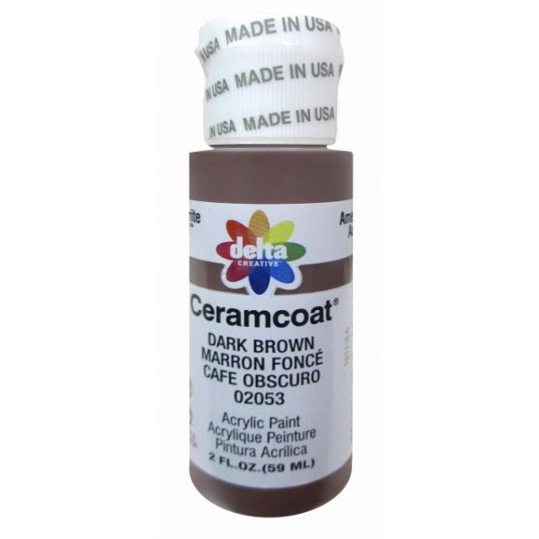 Ceramcoat Dark Brown Acrylic Paint