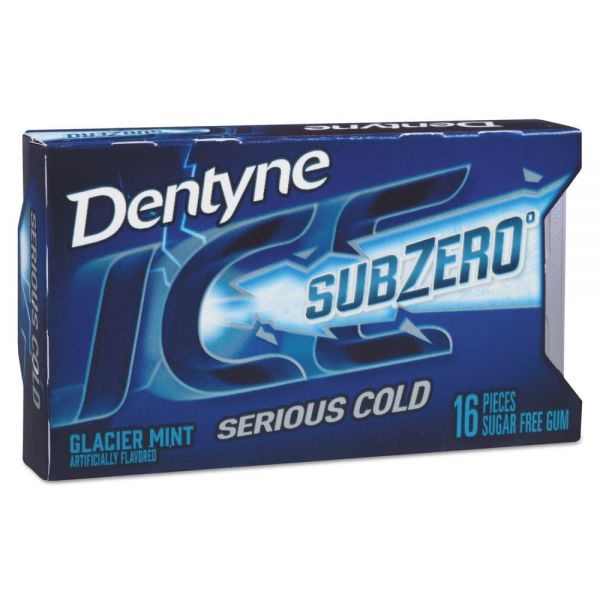 Dentyne Ice Sugarless Gum, Glacier Mint, 16 Pieces/Pack, 9 Packs/Box