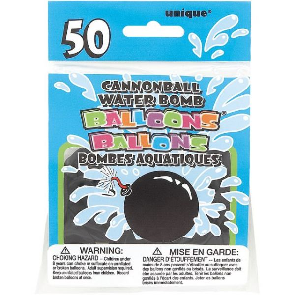 Cannonball Water Bomb Balloons 50/Pkg