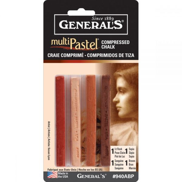 General's MultiPastel Compressed Chalk Sticks