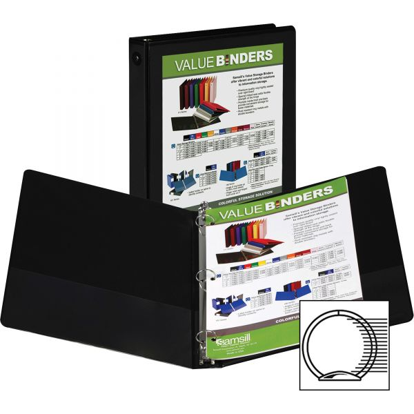 "Samsill Economy 1"" 3-Ring View Binder"