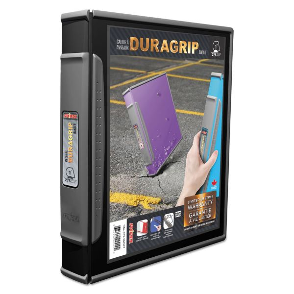 "Storex DuraGrip 1"" 3-Ring View Binder"