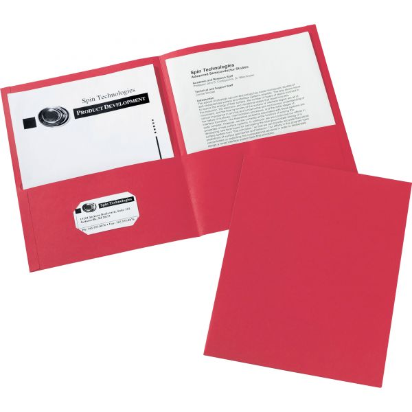 Avery Red Two Pocket Folders