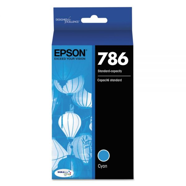 Epson 786 DURABrite Ultra Cyan Ink Cartridge (T786220)