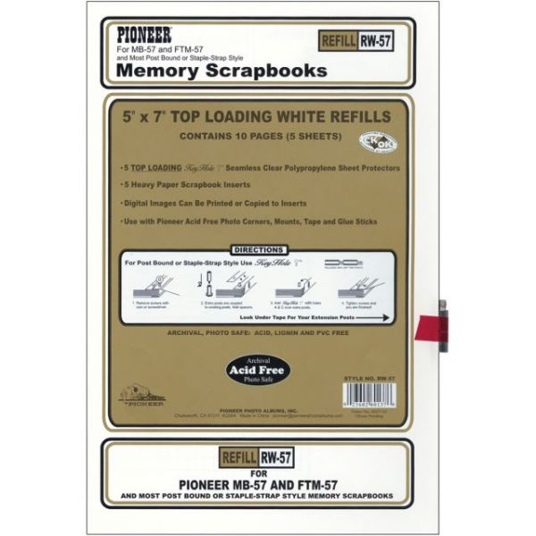 Post Bound Top-Loading Page Protectors 5/Pkg