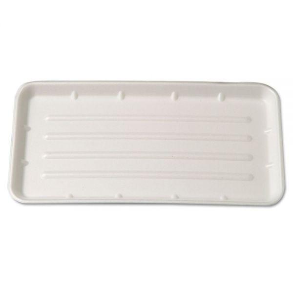 Genpak Supermarket Tray, Foam, Yellow, 8 x 14-3/4, 125/Bag, 2 Bags/Carton