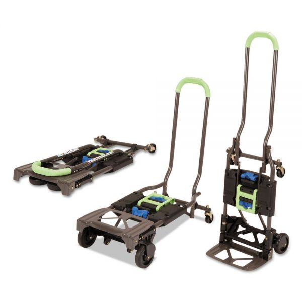Cosco 2-in-1 Multi-Position Hand Truck and Cart, 16 5/8 x 12 3/4 x 49 1/4, Blue/Green
