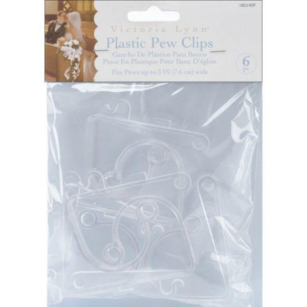 Plastic Pew Clips 6/Pkg