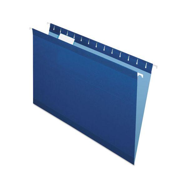 Pendaflex Reinforced Hanging Folders, 1/5 Tab, Legal, Navy, 25/Box
