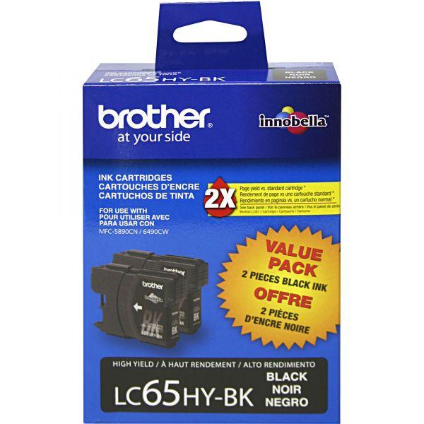 Brother LC65HYBK Black High Yield Ink Cartridges