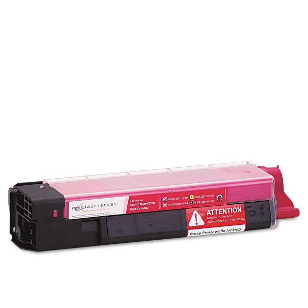 Media Sciences Remanufactured Oki 43324402 Magenta Toner Cartridge