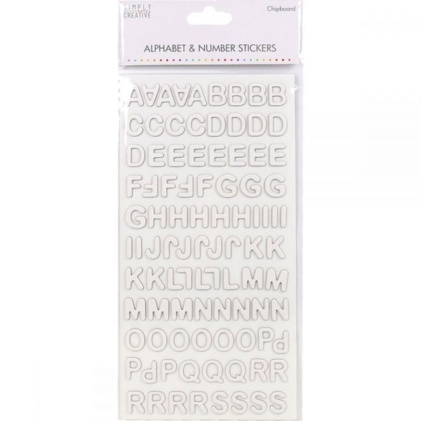 Simply Creative Alphabet & Number Stickers