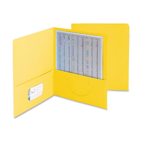 Smead Heavyweight Yellow Two Pocket Folders