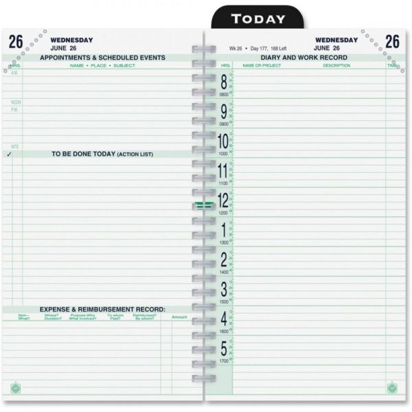 Day-Timer 2 Pages Per Day Original Calendar Page