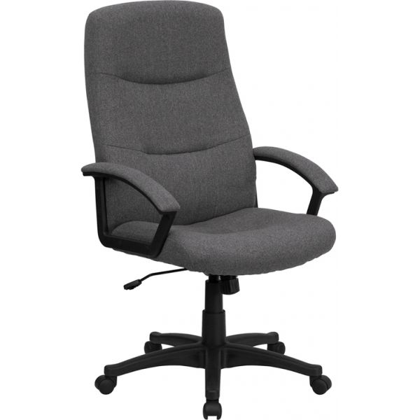 Flash Furniture High Back Executive Swivel Office Chair [BT-134A-GY-GG]