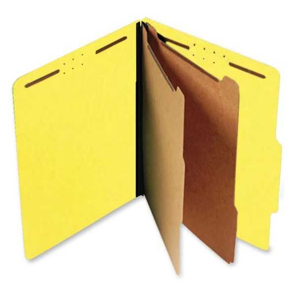 SJ Paper Yellow Pressboard Classification Folders
