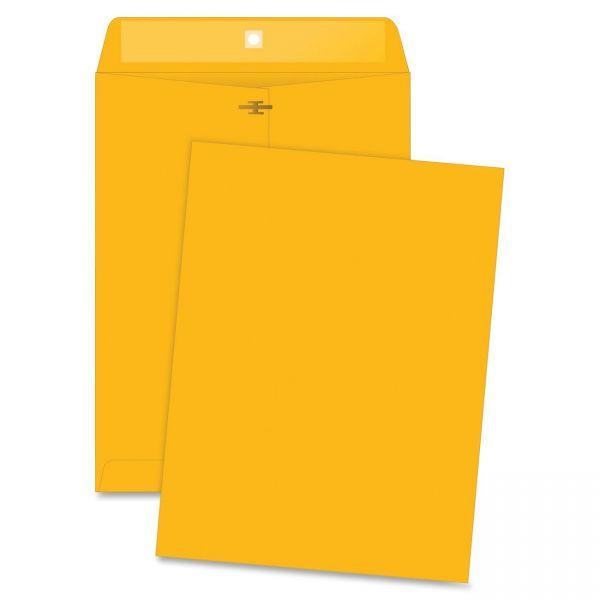 "Business Source Rugged Gummed 9"" x 12"" Clasp Envelopes"