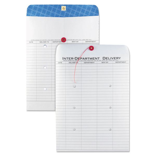 Quality Park White Kraft Interoffice Envelope, 10 x 13, 100/Box