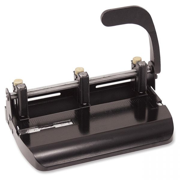 OIC Heavy-Duty Adjustable Two/Three-Hole Punch
