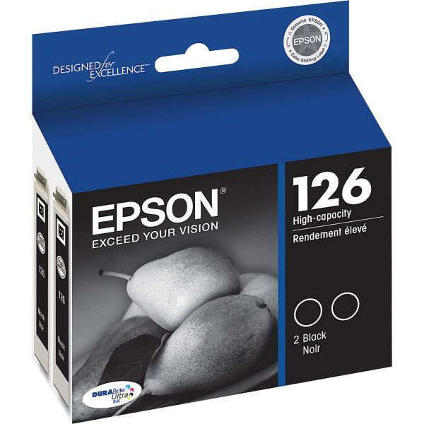 Epson 126 Black High-Capacity Ink Cartridges (T126120-D2)