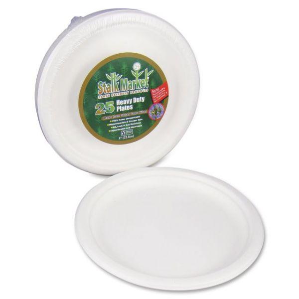 """Stalk Market Compostable 9"""" Bagasse Plates"""