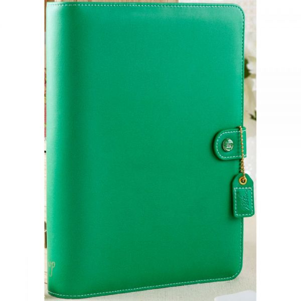 "Color Crush A5 Faux Leather 6-Ring Planner Binder 7.5""X10"""