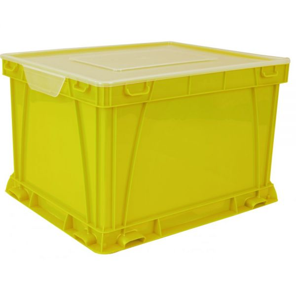 Storex Storage and Filing Cube, Yellow (case of 3)