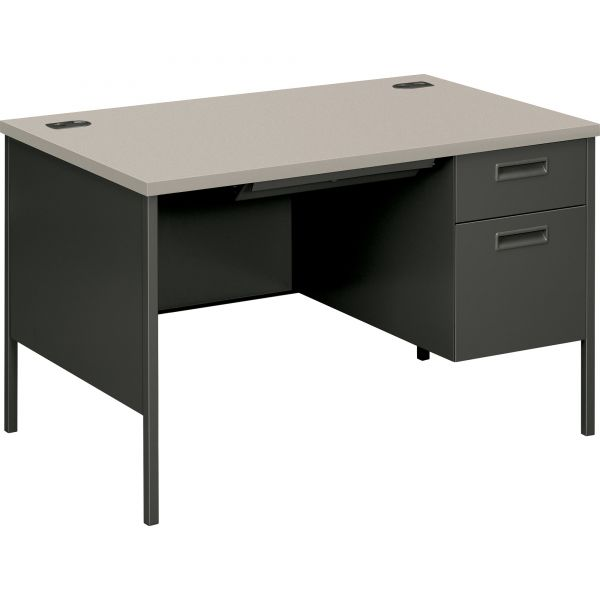 "HON Metro Classic Compact Right Pedestal Desk | 1 Box / 1 File Drawer | 48""W"