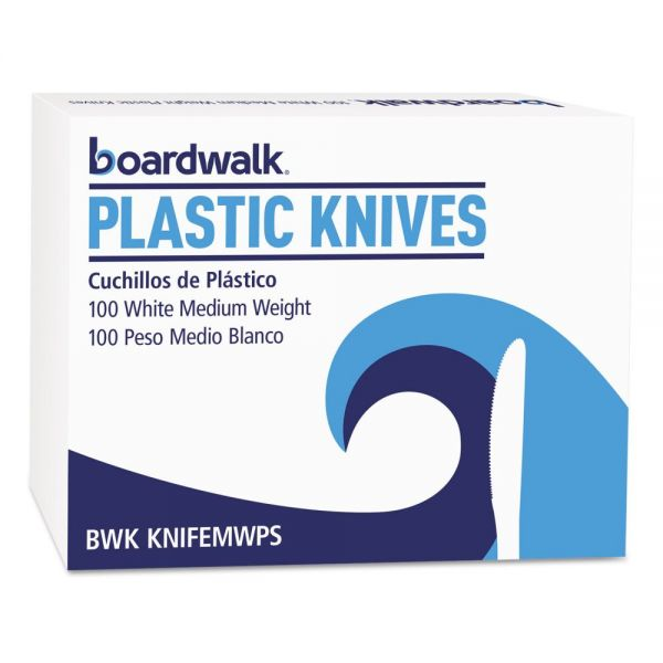 Boardwalk Heavy Mediumweight Plastic Knives