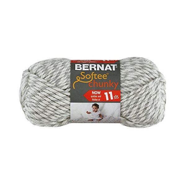 Bernat Softee Chunky Yarn - Gray Ragg