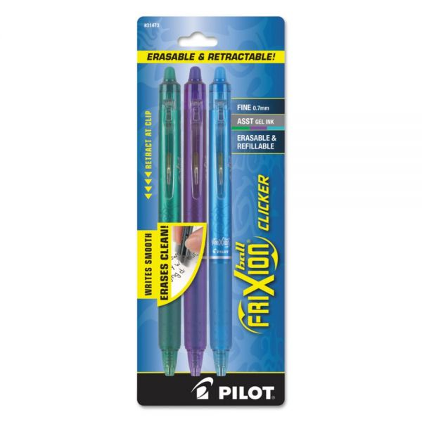 Pilot FriXion Clicker Erasable Gel Ink Retractable Pens