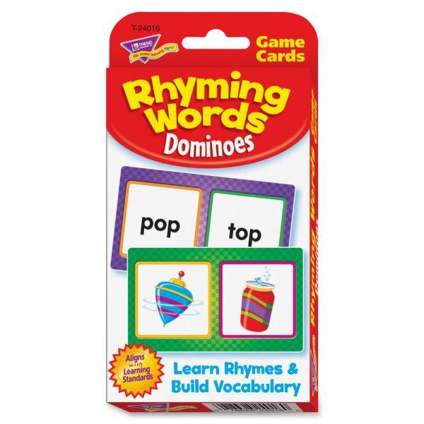 Trend Rhyming Words Dominoes Challenge Cards