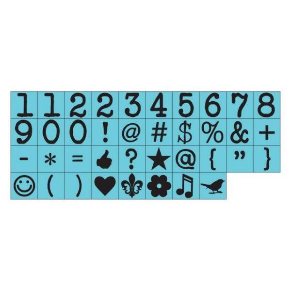 "Press Alphabet Stamp Set .25"" Characters 38/Pkg"