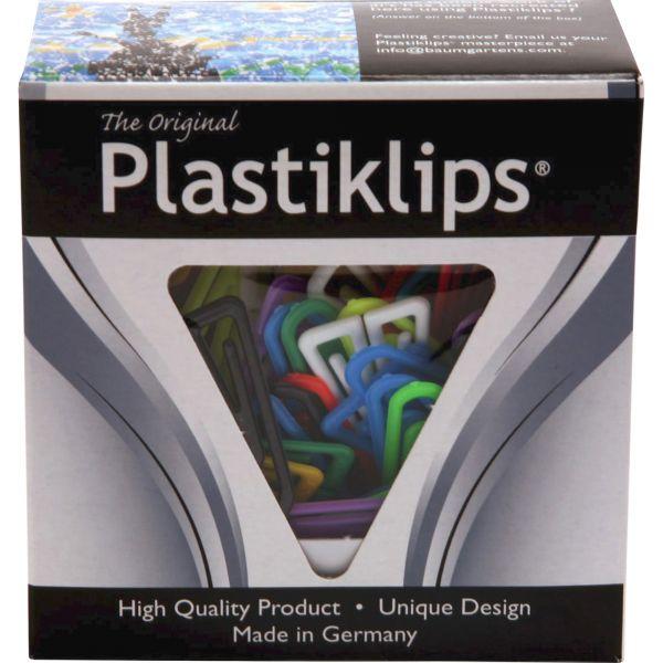 Baumgartens Plastiklips Paper Clips, Large, Assorted Colors, 200/Box