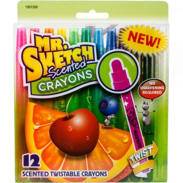Scented Twist Crayons 12/Pkg