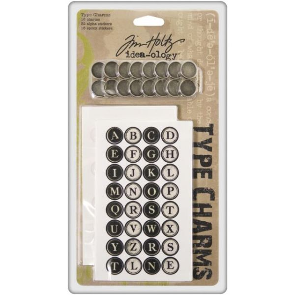 "Idea-Ology Type Charms .6875"" 16/Pkg"
