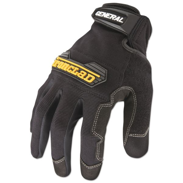 Ironclad General Utility Spandex Gloves, Black, Large, Pair