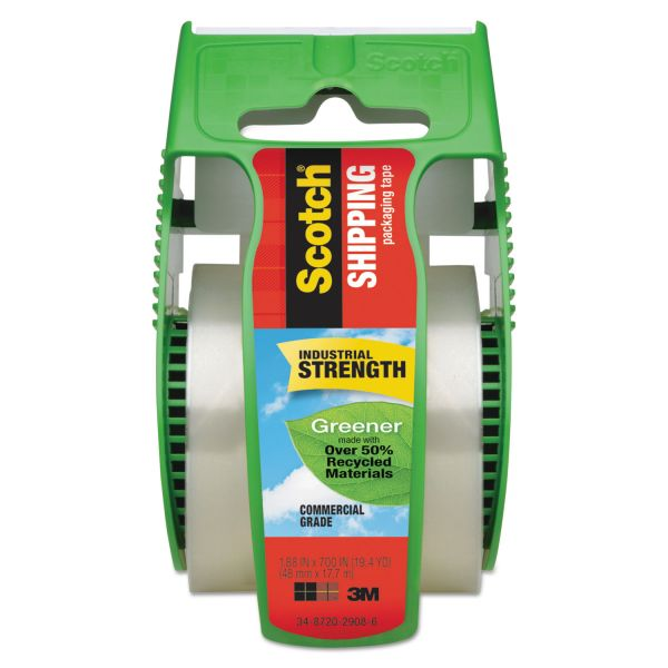 Scotch Greener Commercial Grade Packing Tape with Dispenser