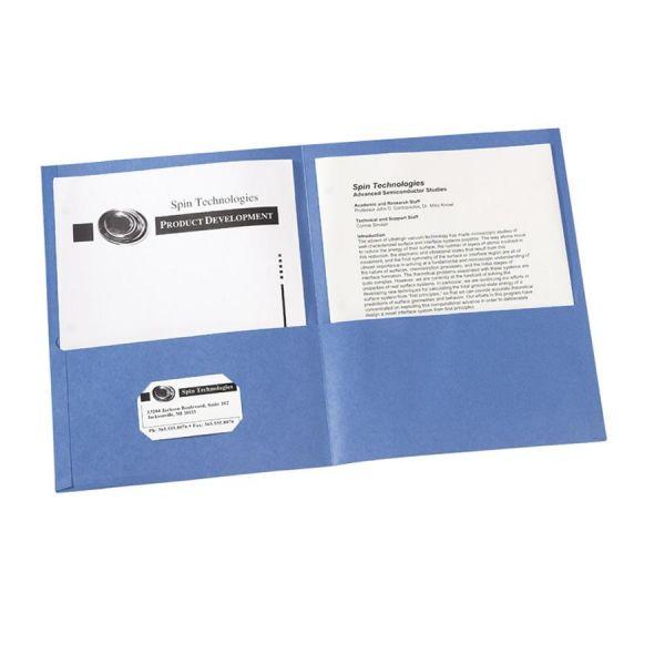 Avery Light Blue Two Pocket Folders