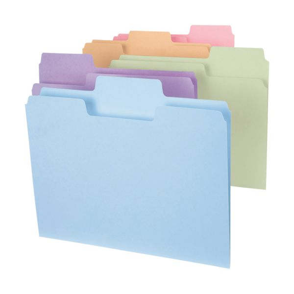Smead 11927 SuperTab Colored File Folders with Oversized Tabs