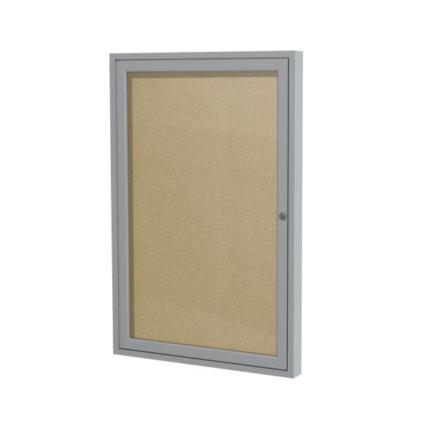 Ghent Enclosed Outdoor Bulletin Board, 36 x 24, Satin Finish