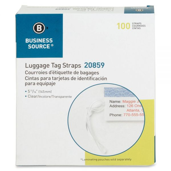 Business Source Luggage Tag Straps